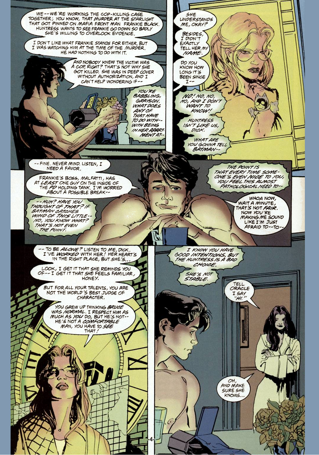 nightwing and huntress one night stand 3