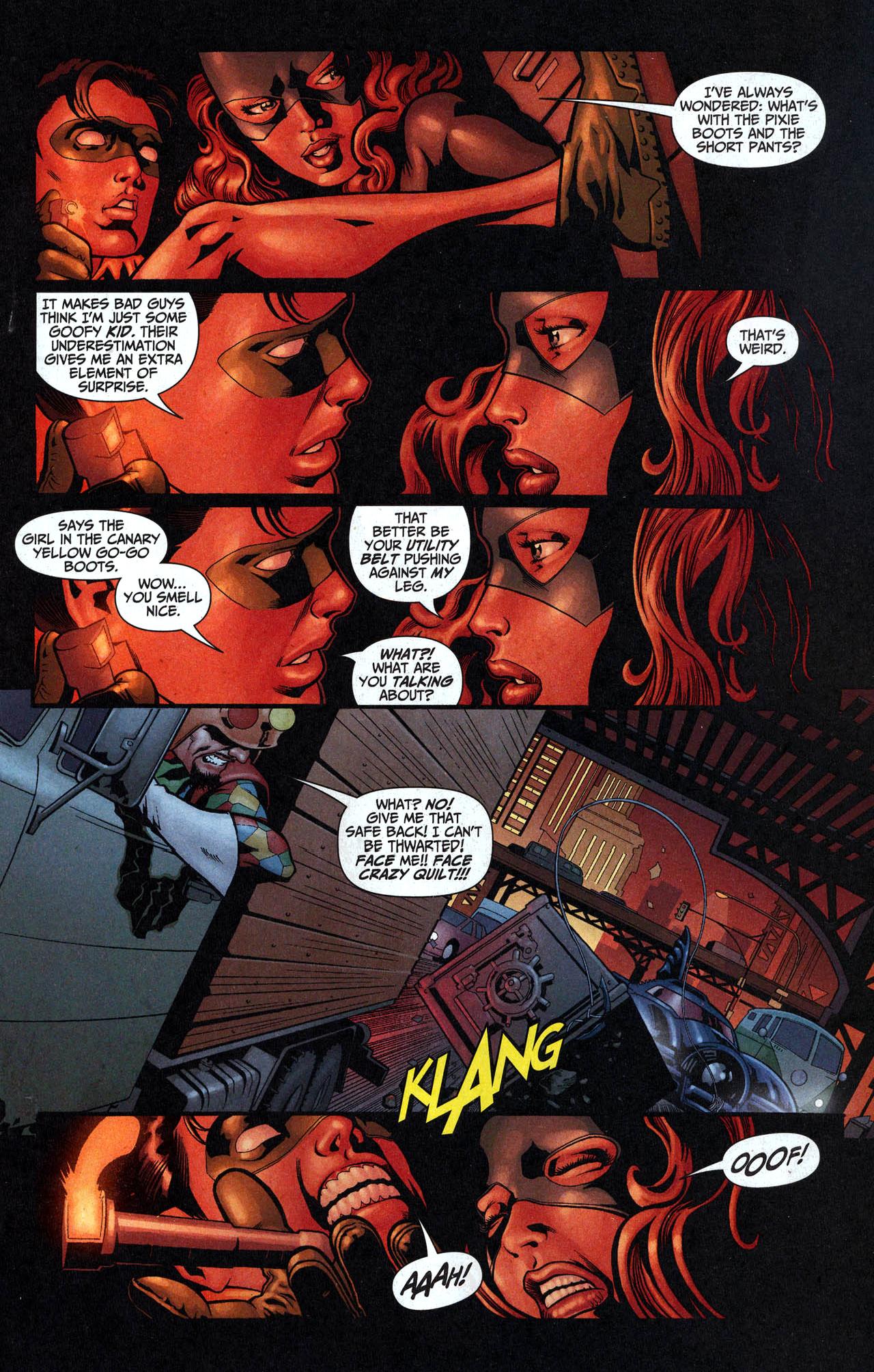 robin and batgirl vs crazy quilt 3