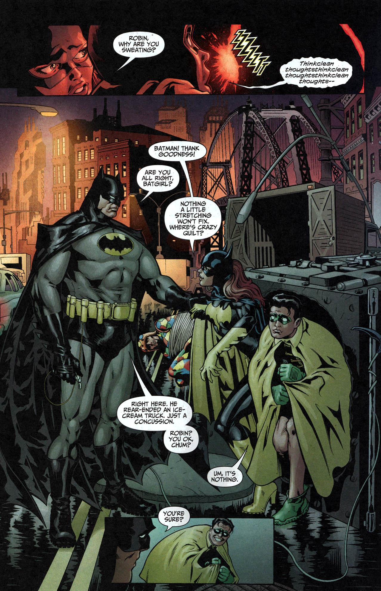 robin and batgirl vs crazy quilt 4