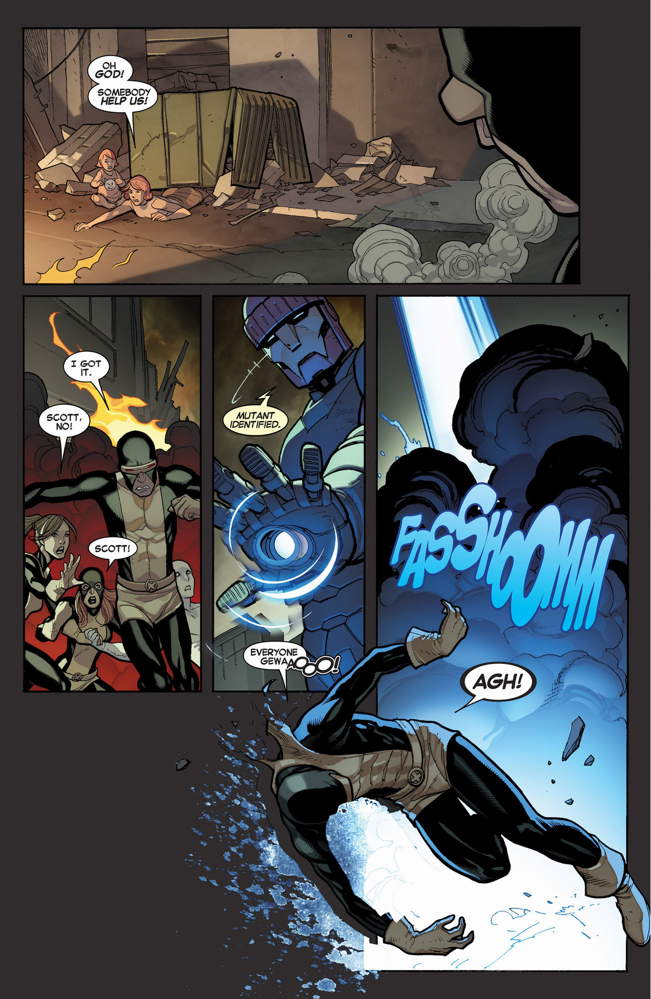 cyclops's team helps out the original 5 x-men