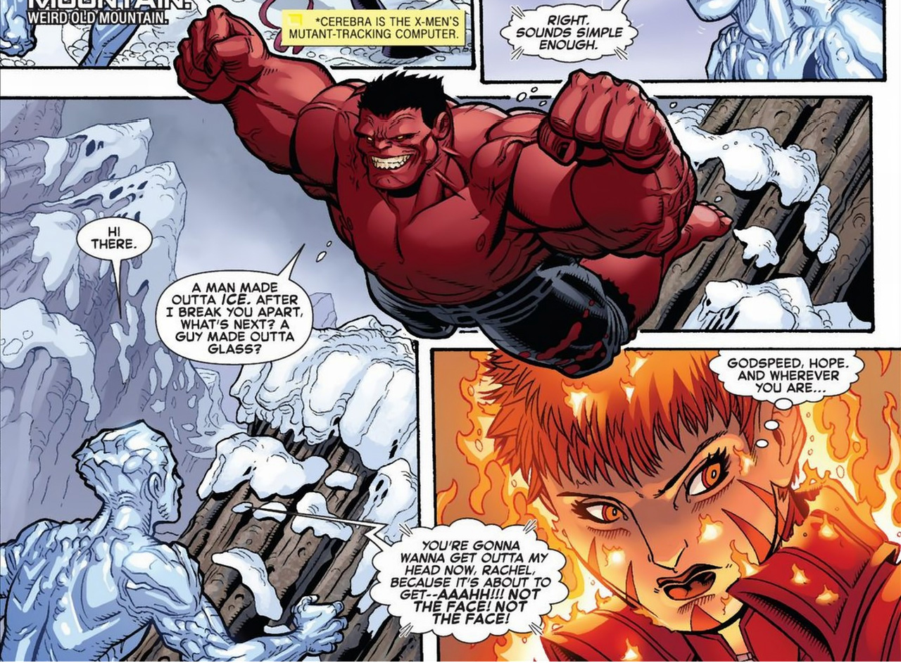 iceman vs red hulk