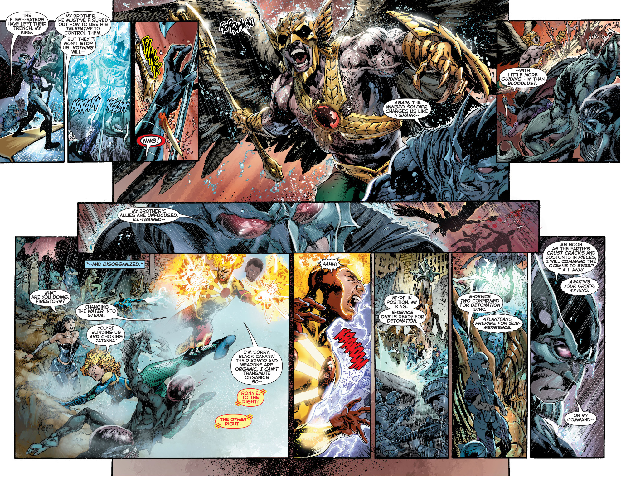 Justice League vs Ocean Master and the Atlanteans
