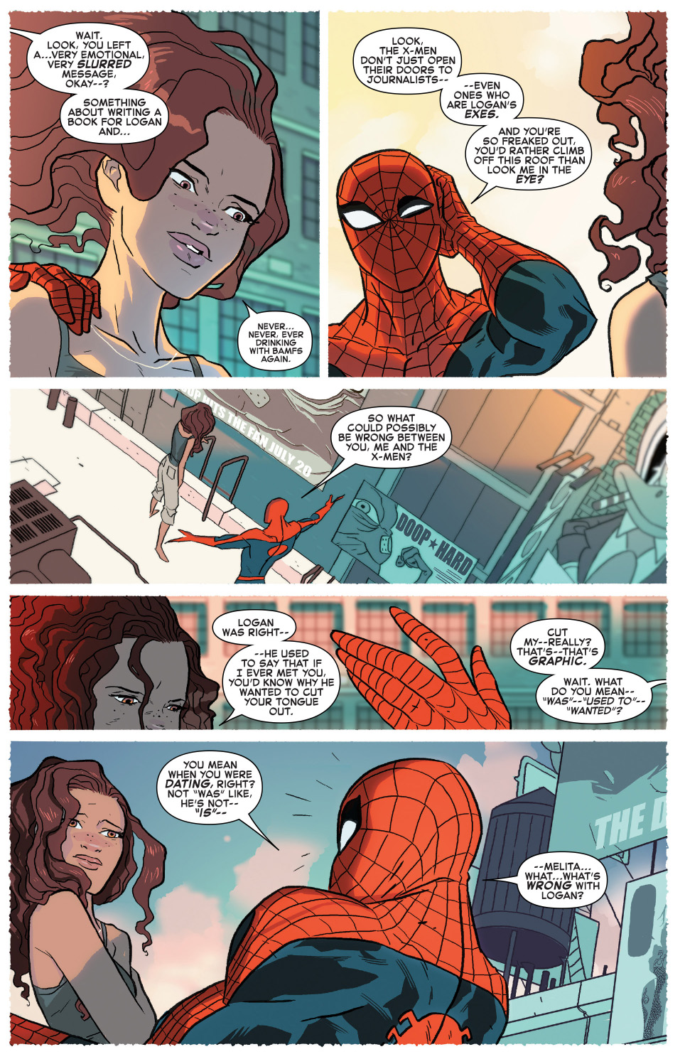 spider-man learns of wolverine's death
