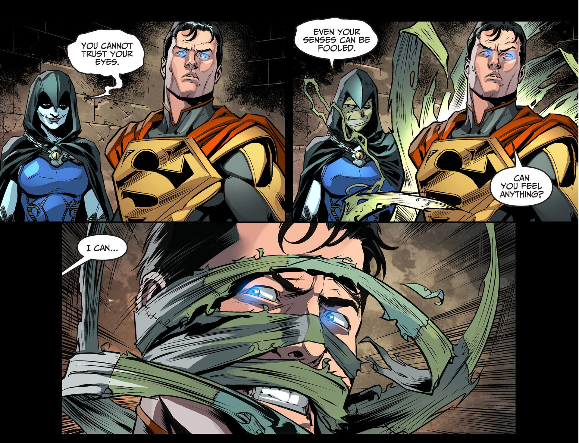 superman rescues raven
