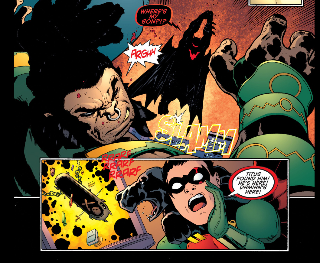 batman in hellbat armor vs kalibak