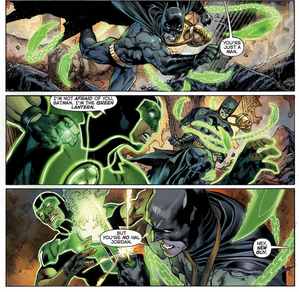batman vs green lantern (simon baz)