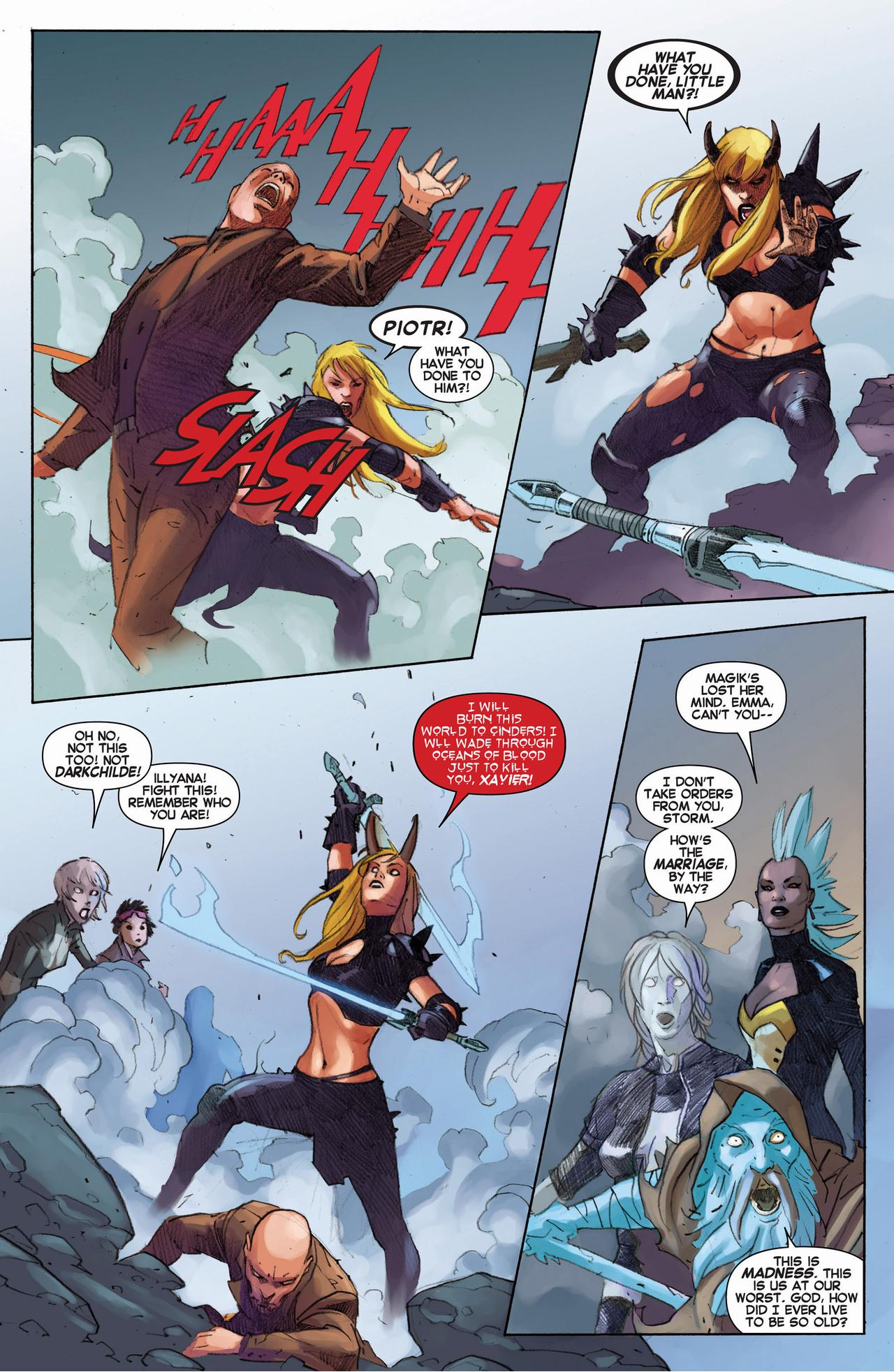 charles xavier II kills future colossus
