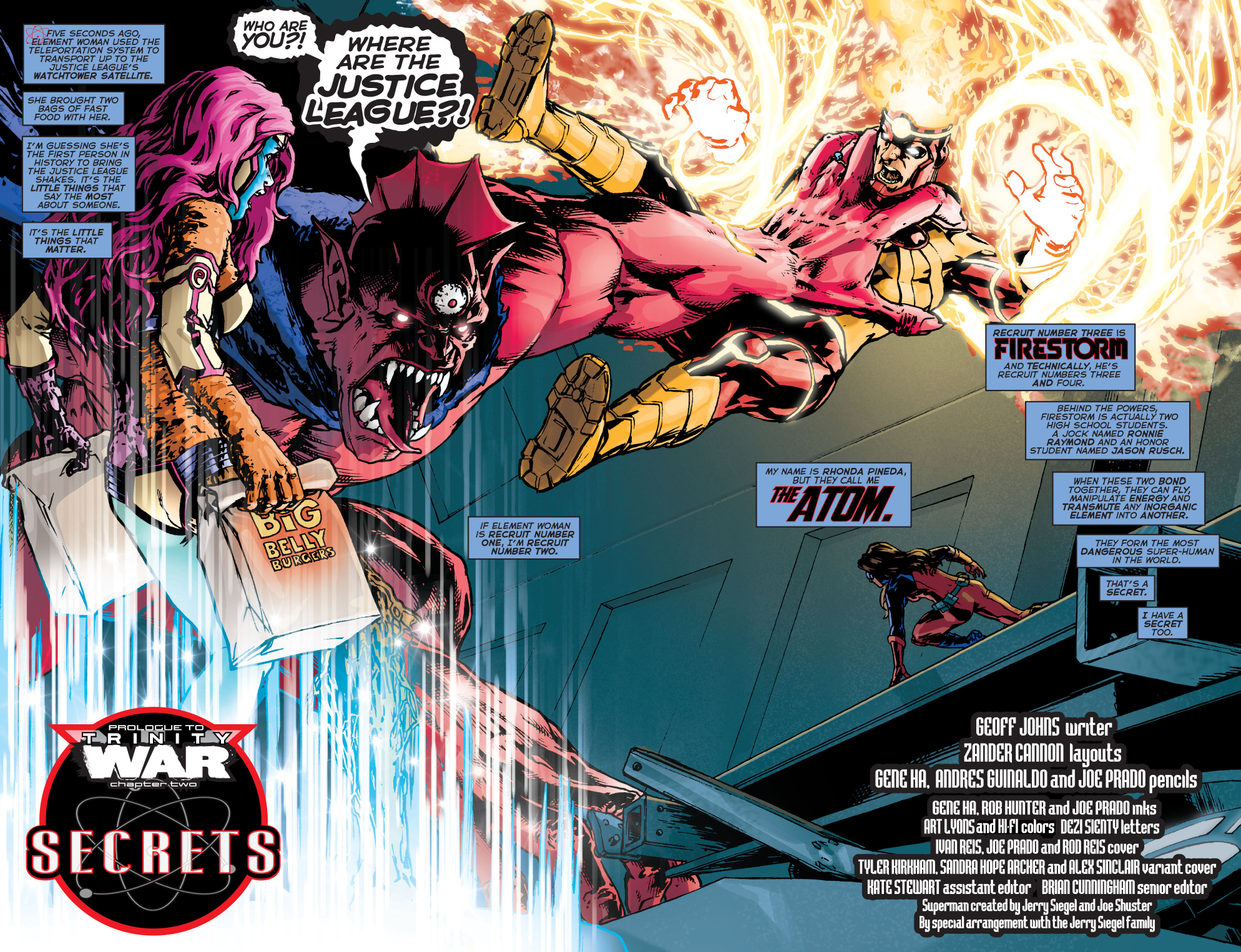 despero vs element woman, firestorm and the atom
