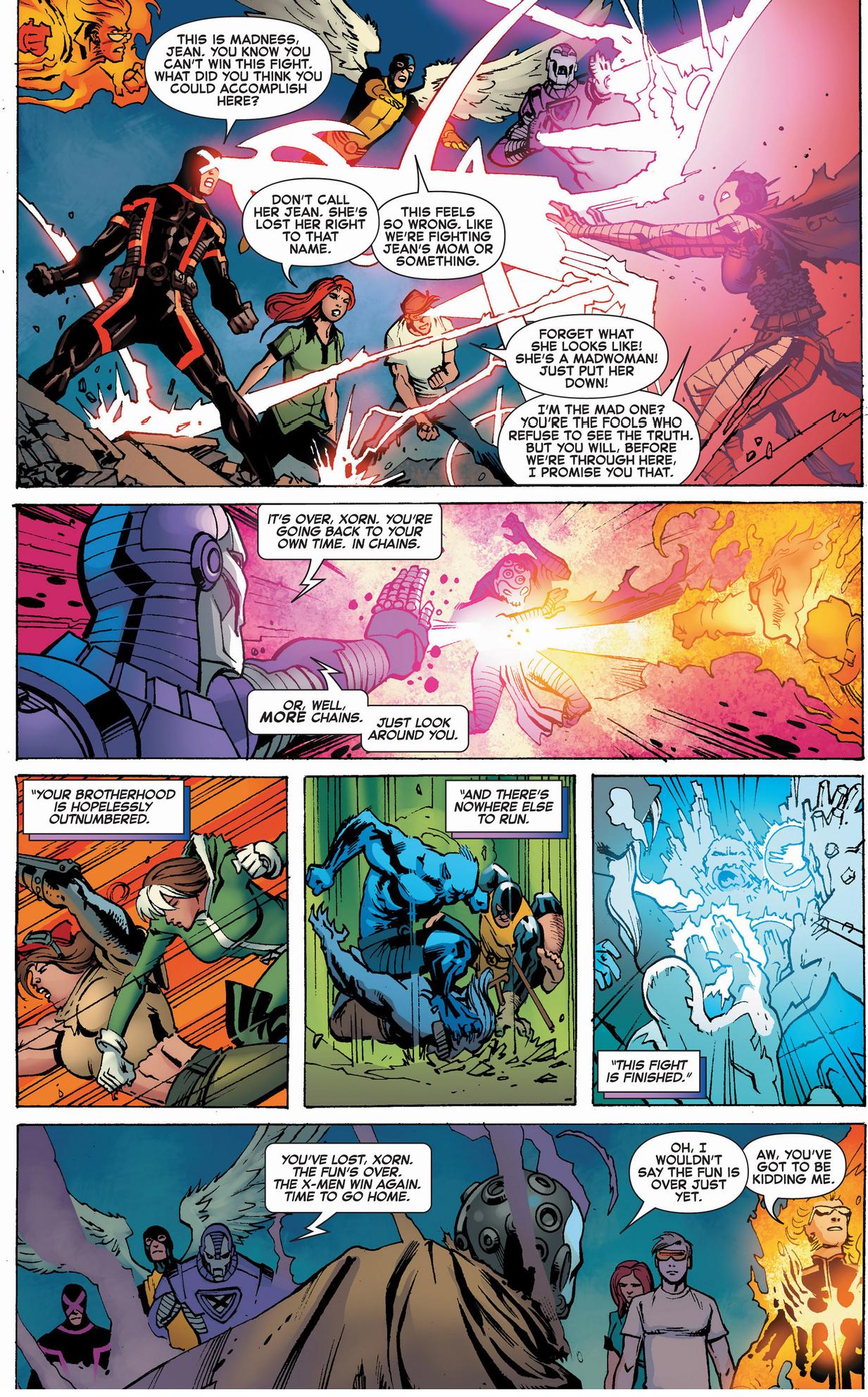 past, present and future x-men vs future brotherhood