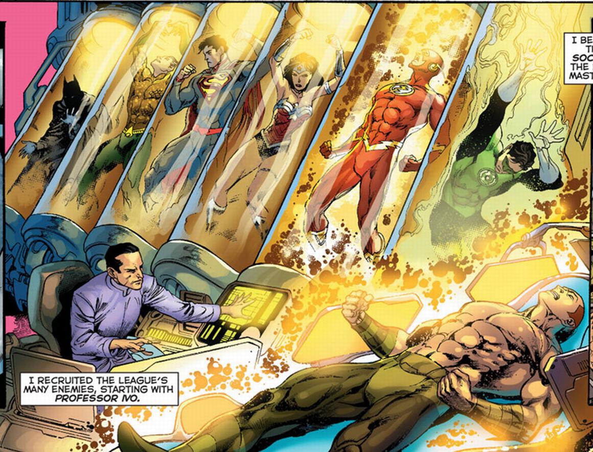 professor ivo captaures the justice league