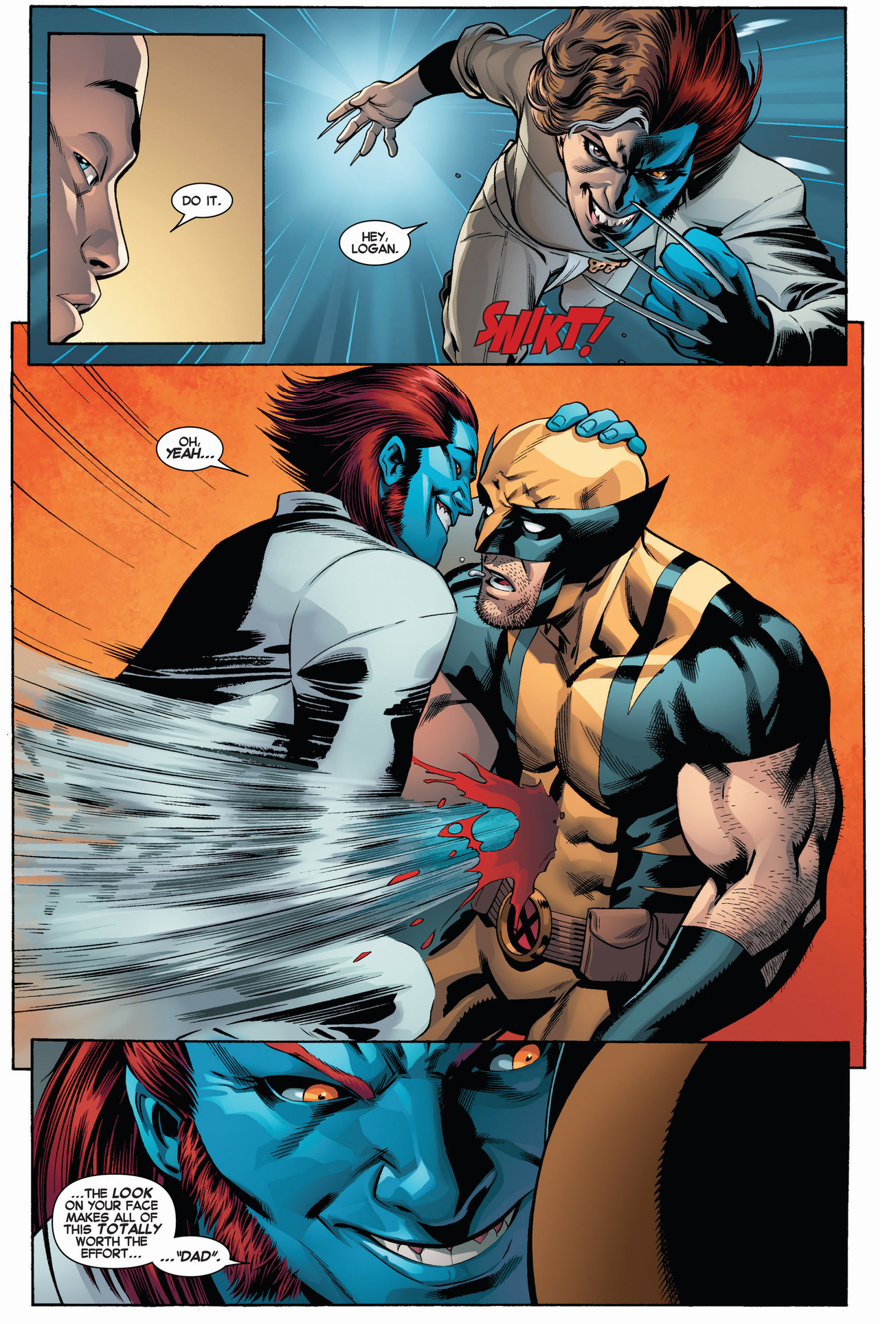 raze attacks wolverine