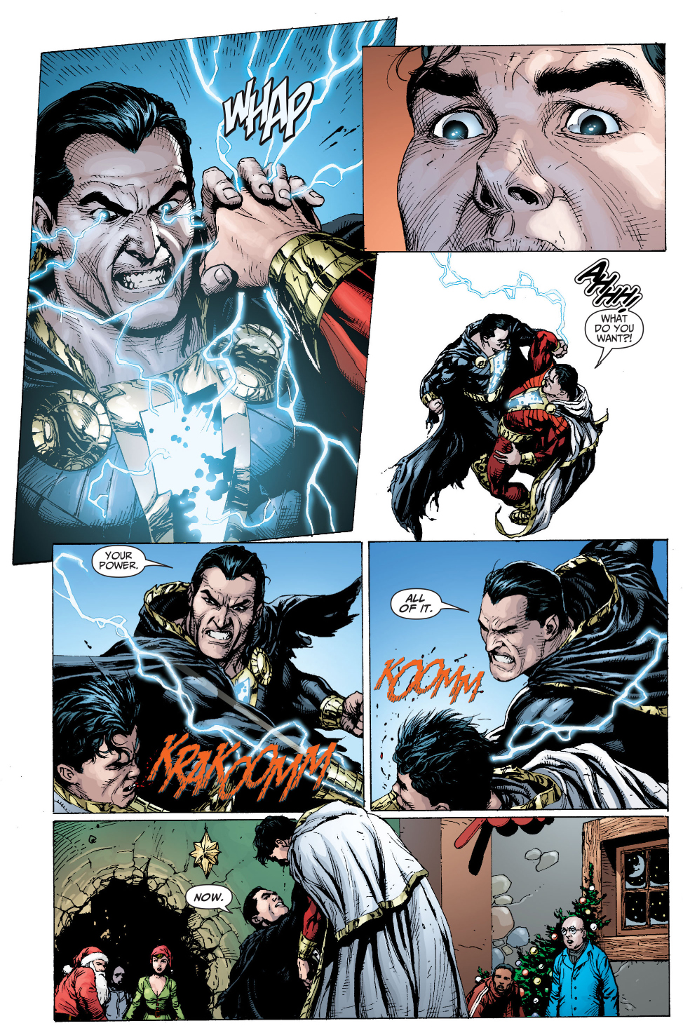 shazam meets black adam for the first time