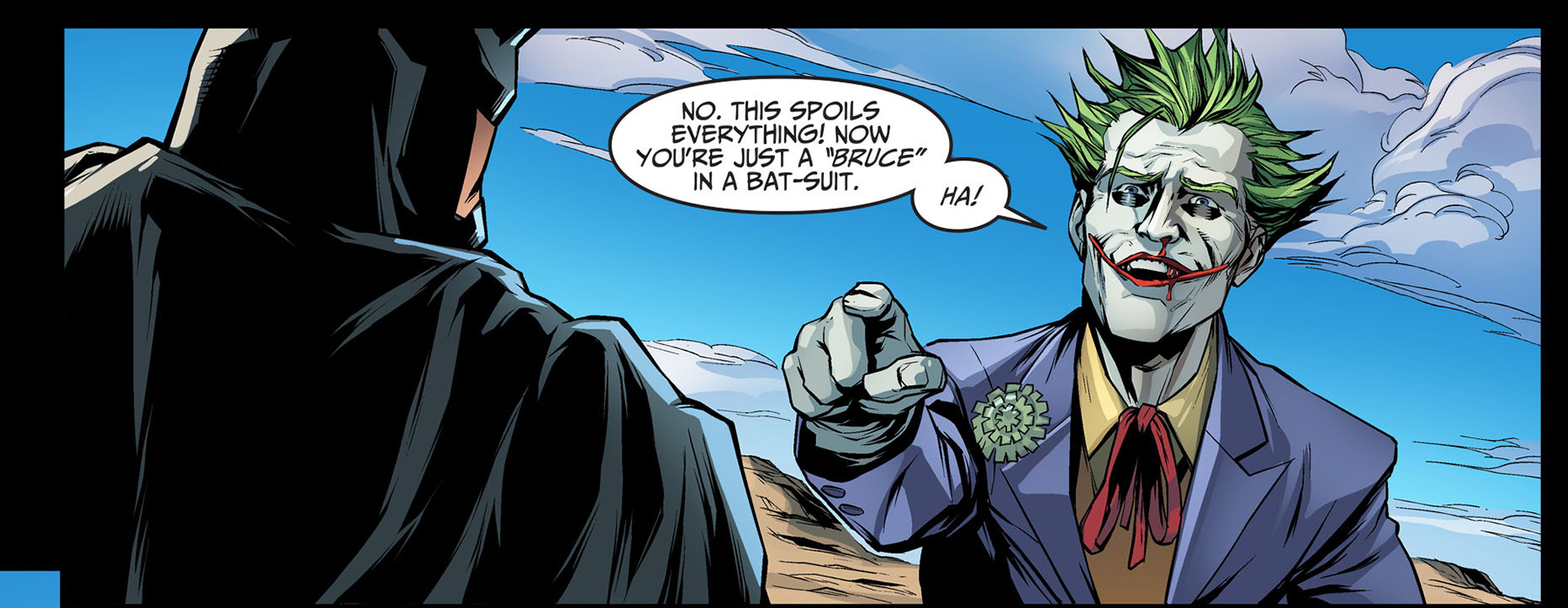 superman calls batman bruce in front of the joker