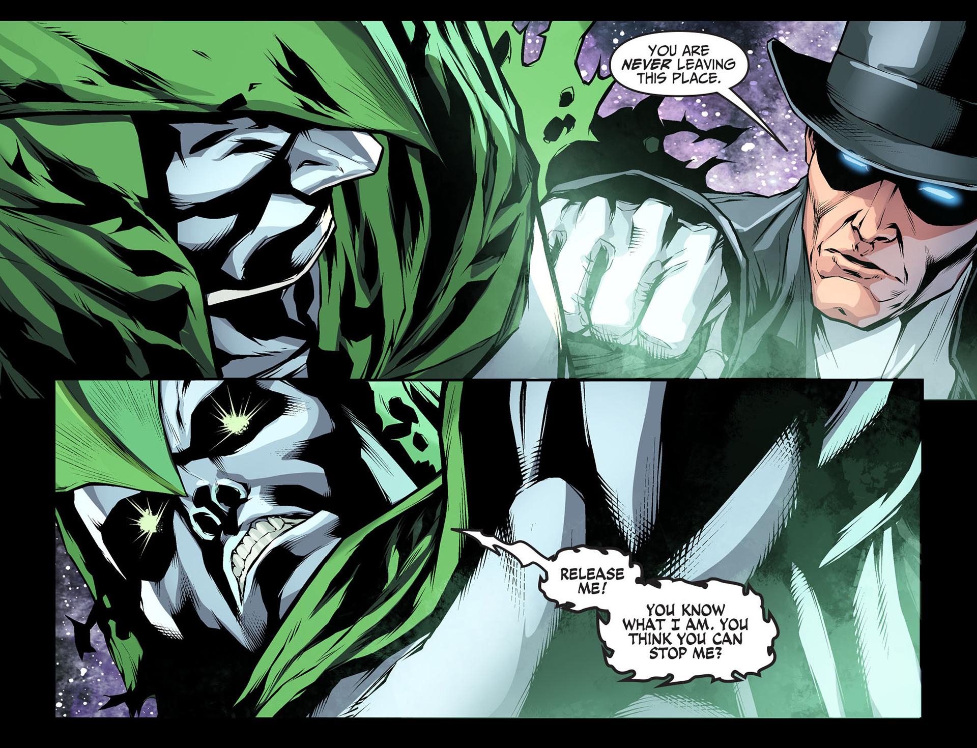 the spectre kills the phantom stranger