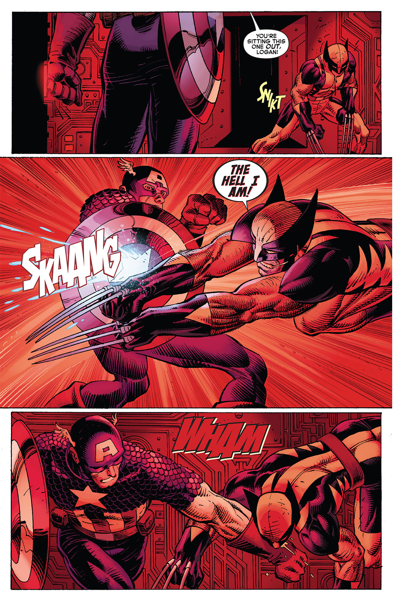 captain america vs wolverine (avx)