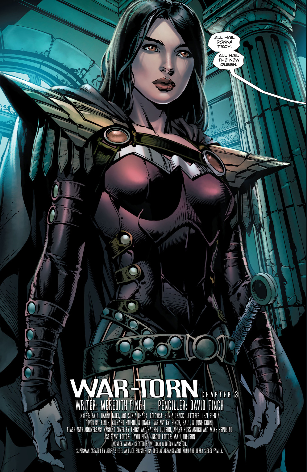 donna troy as queen of the amazons