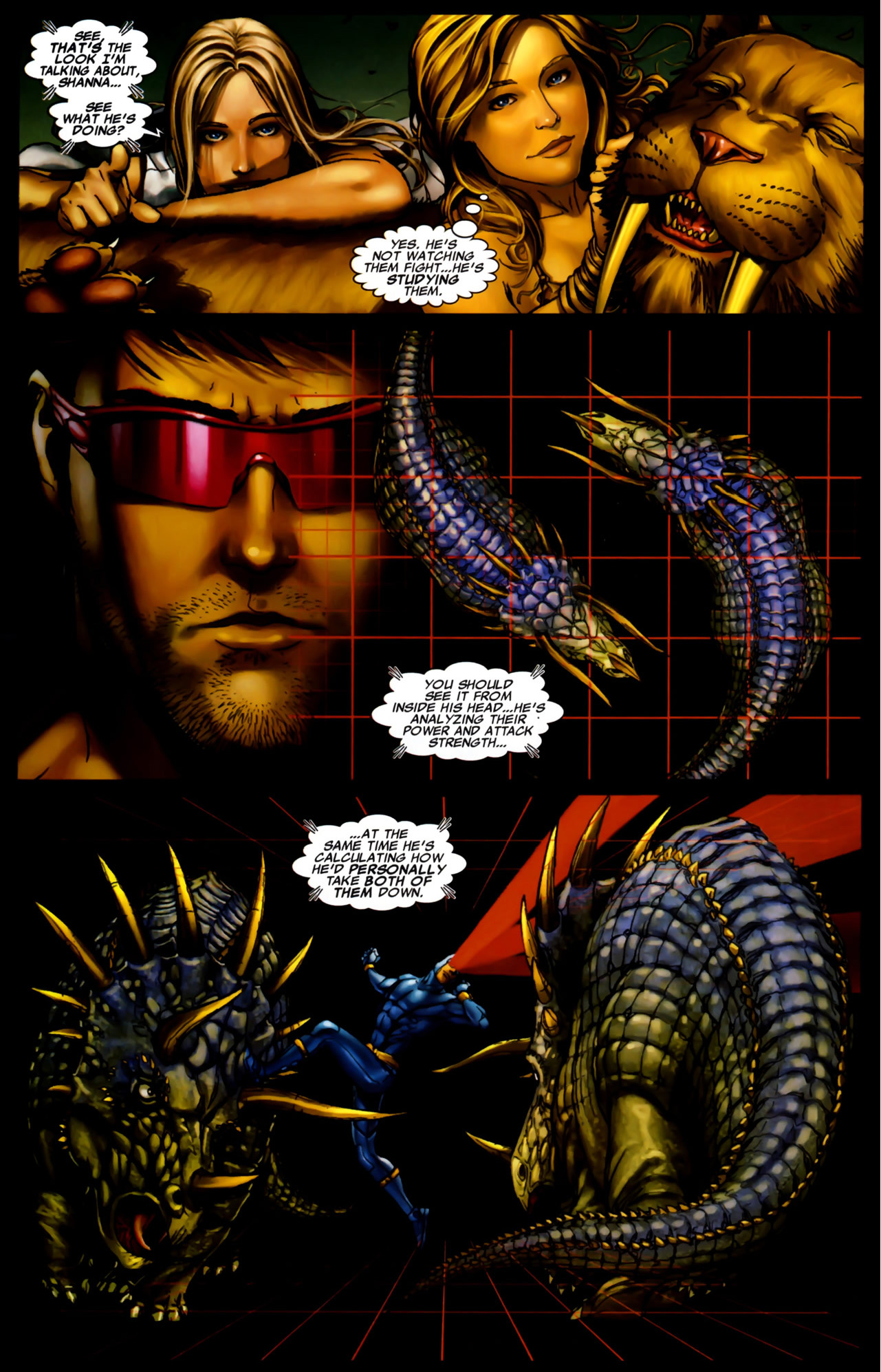 how cyclops studies and analyzes opponents