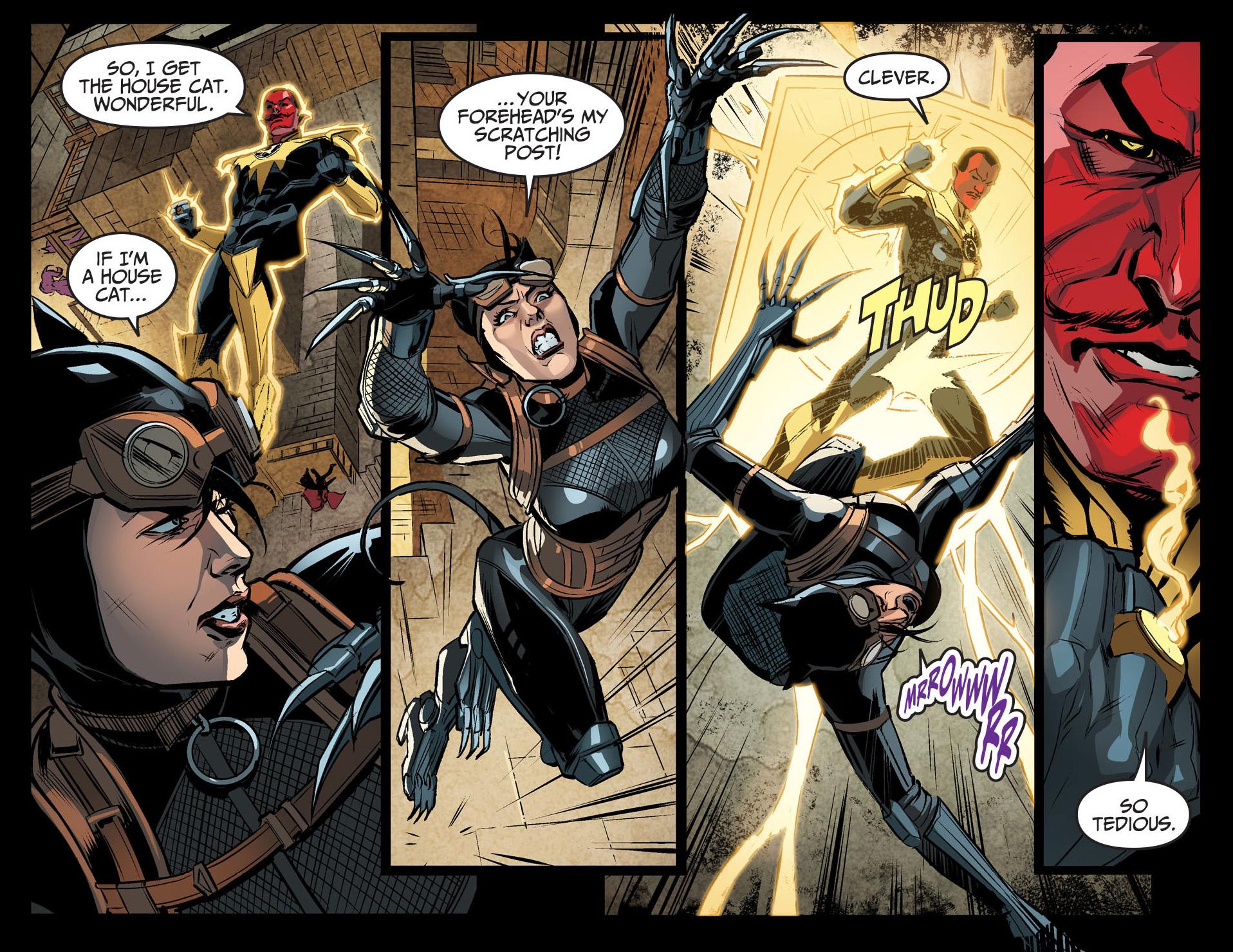 sinestro vs catwoman (injustice gods among us)