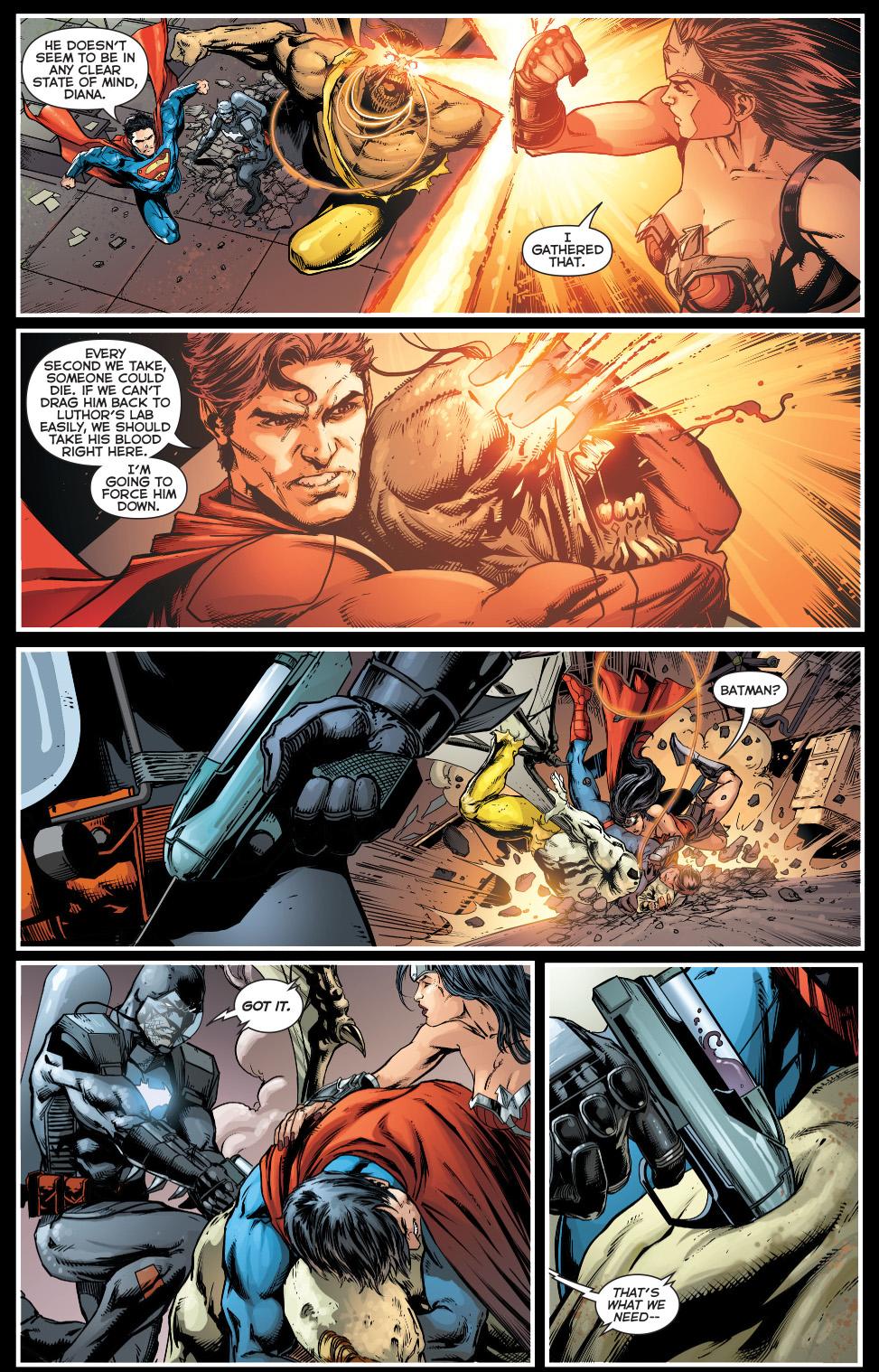 superman, batman and wonder woman vs patient zero