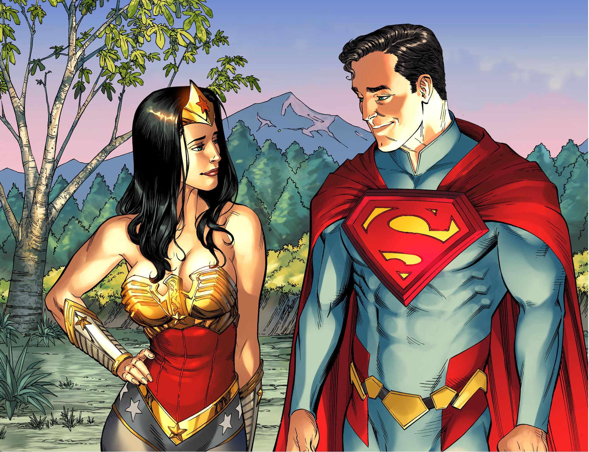 superman flirts with wonder woman