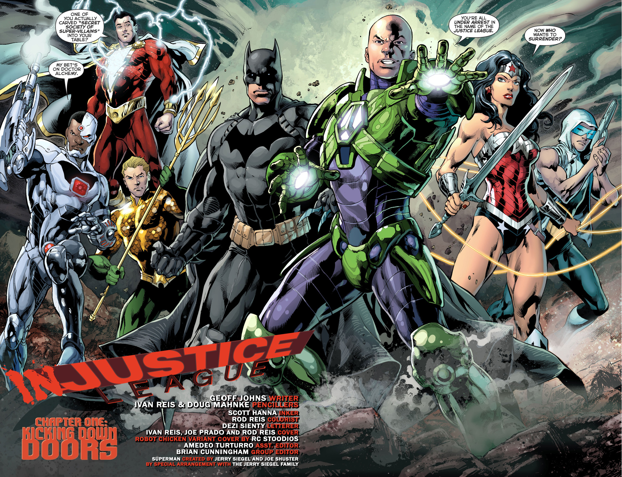 the justice league arrests the secret society