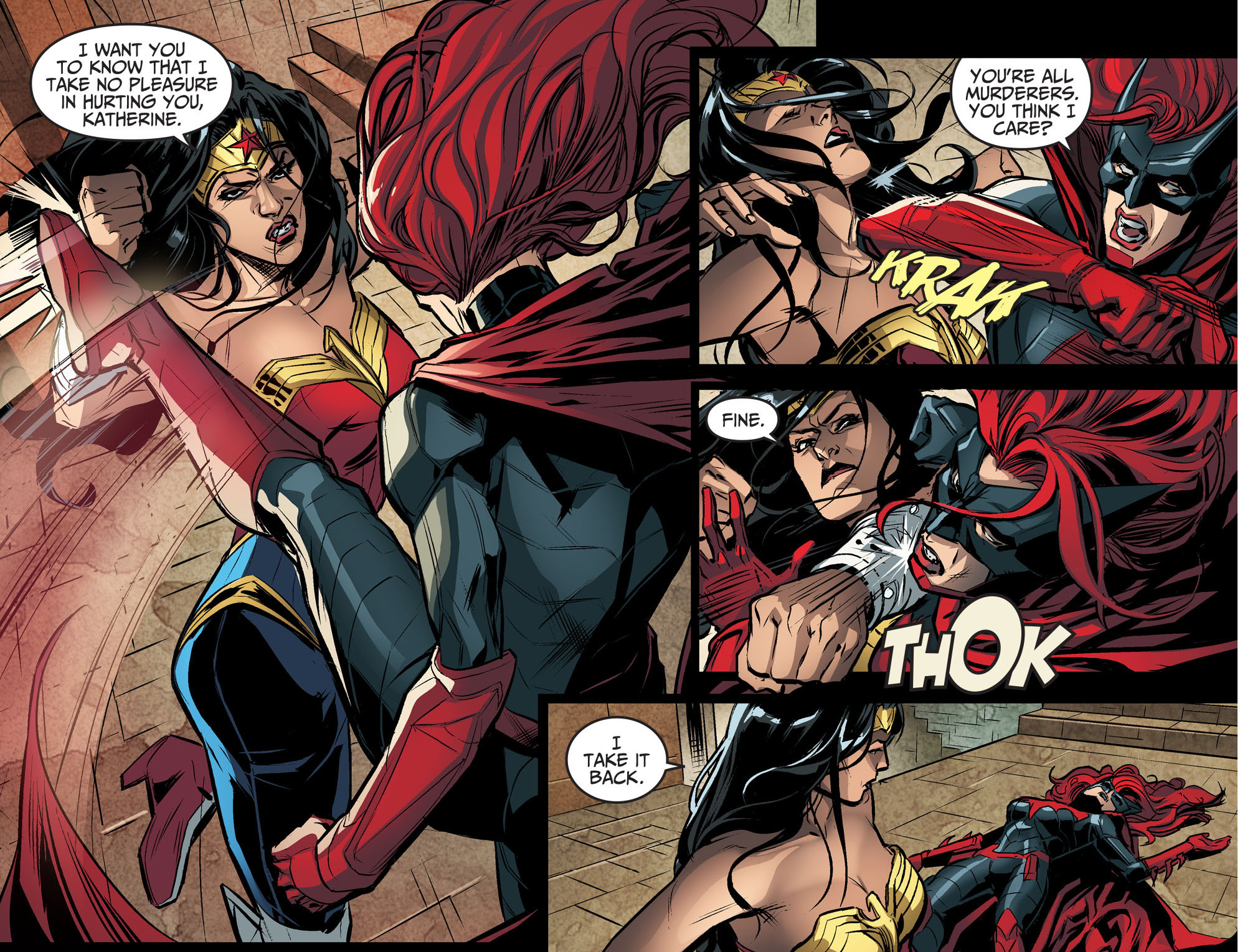 wonder woman vs batwoman