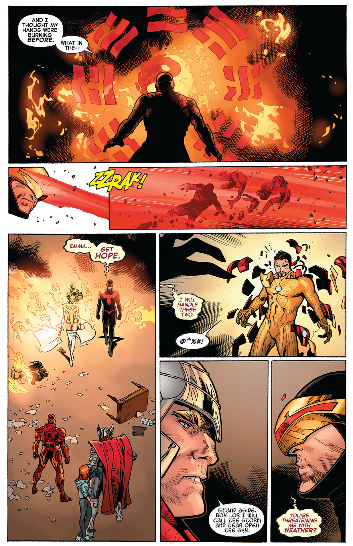 cyclops and emma frost vs the avengers (avx)