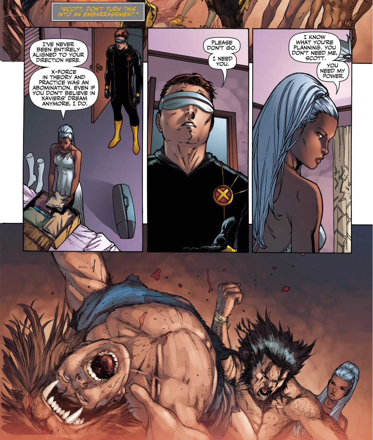 how cyclops got storm to stay in utopia