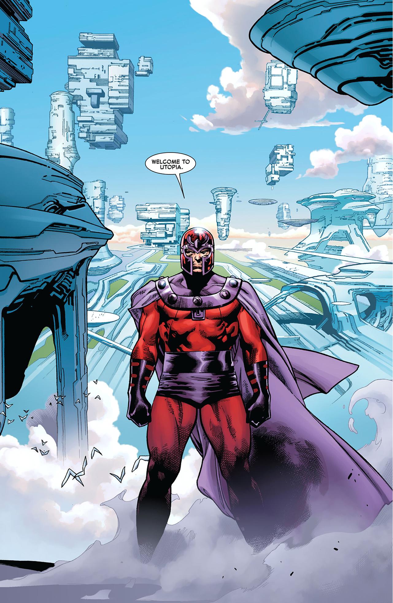 magneto welcomes professor x to utopia