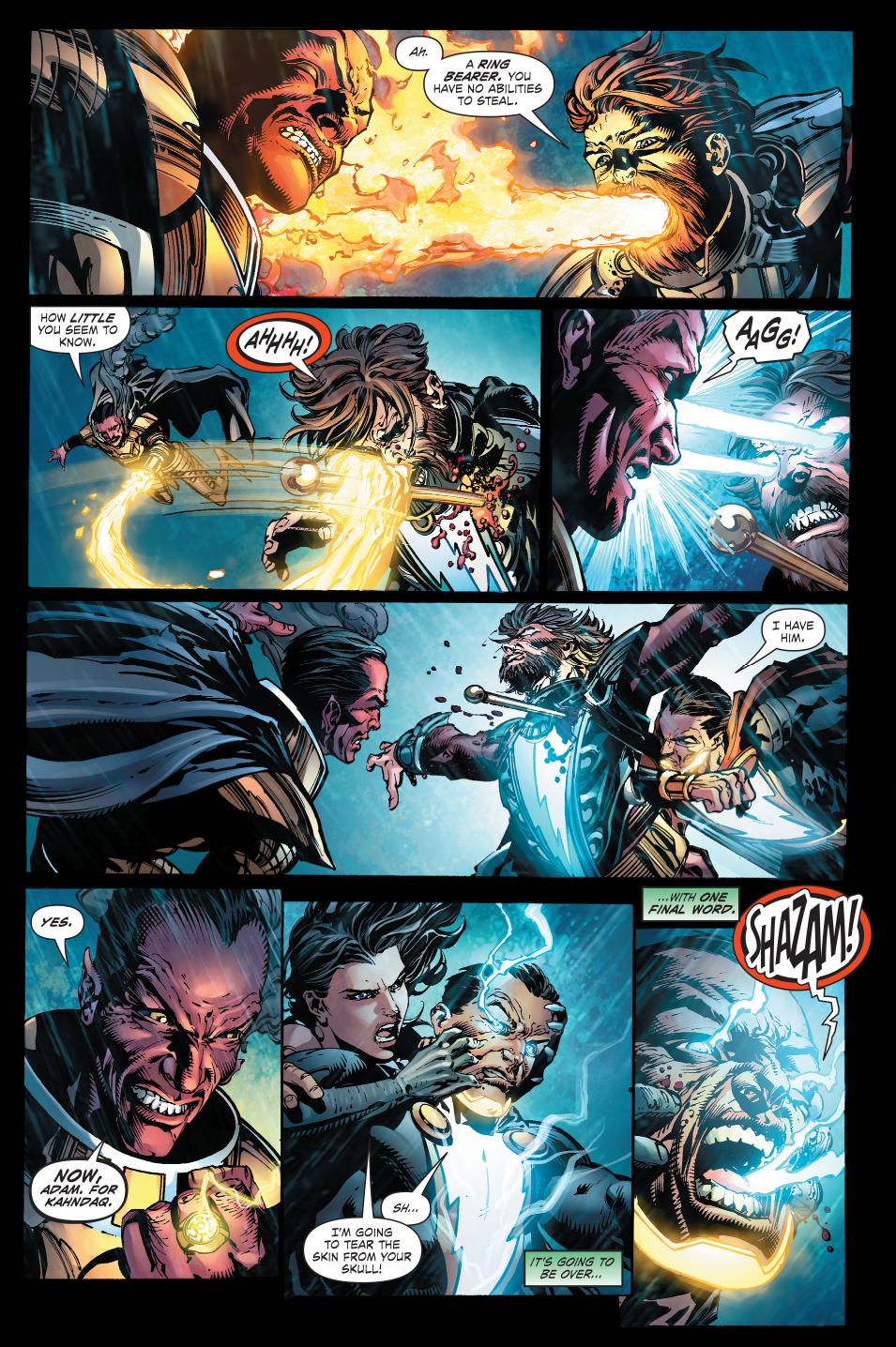 sinestro and black adam vs mazahs