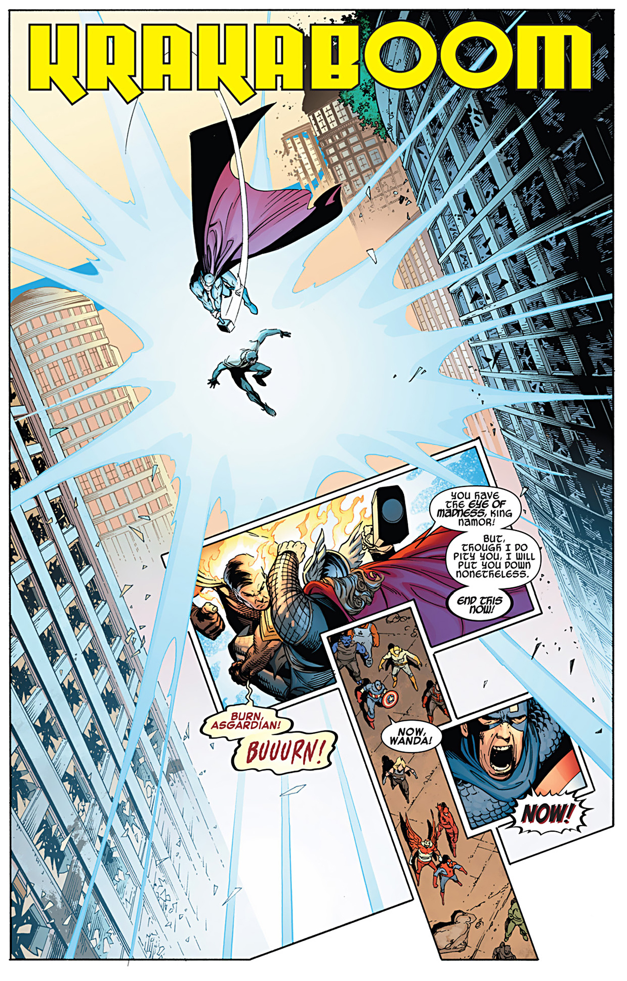 the avengers take down phoenix five namor