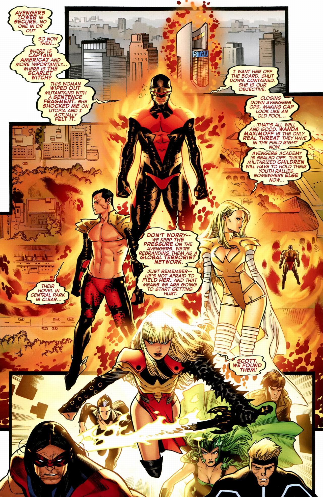 the x-men hunts down the avengers