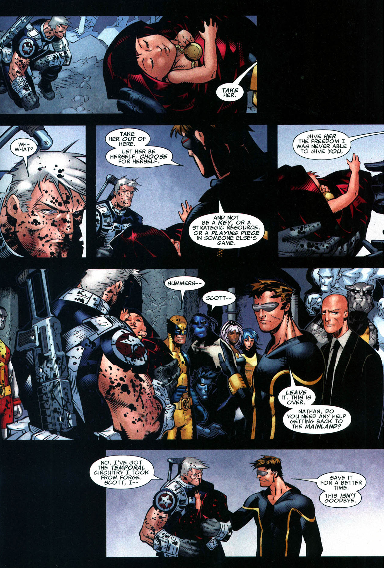 why cyclops sent hope summers to the future