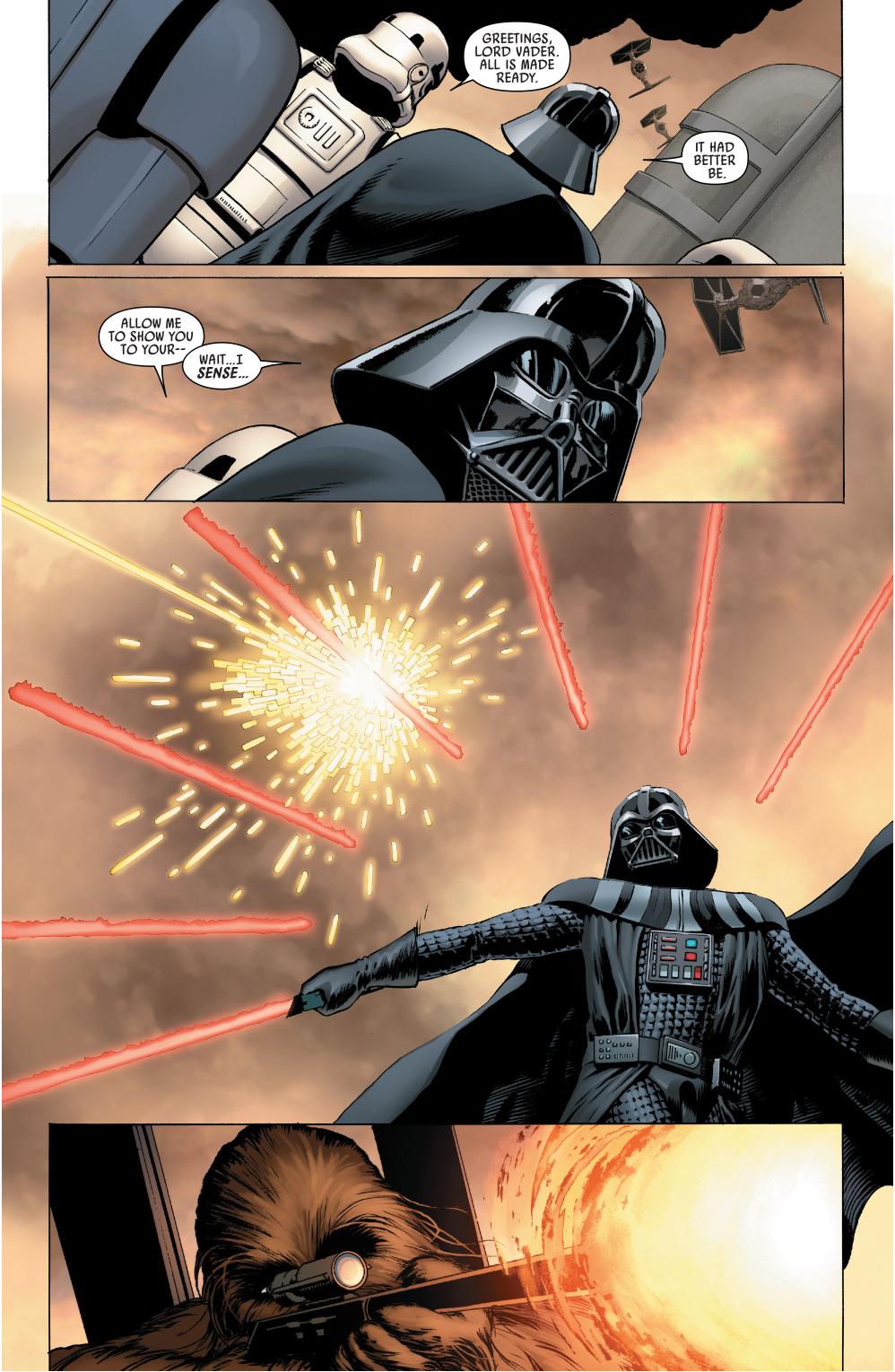 chewbacca attacks darth vader