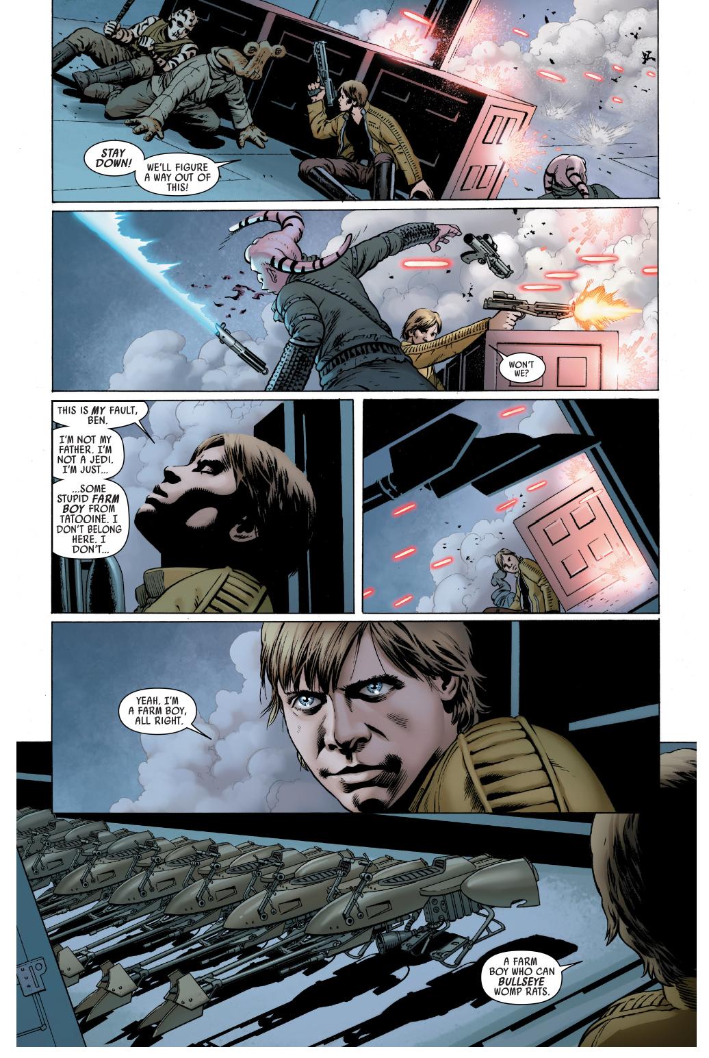 how luke skywalker escaped darth vader