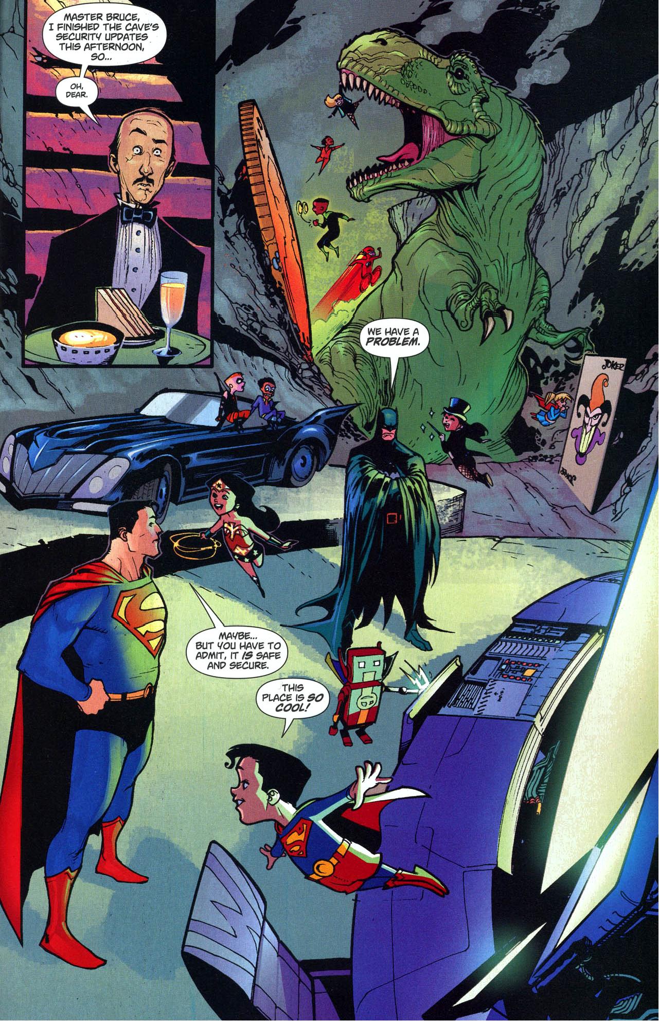 mini justice league invades the batcave 1