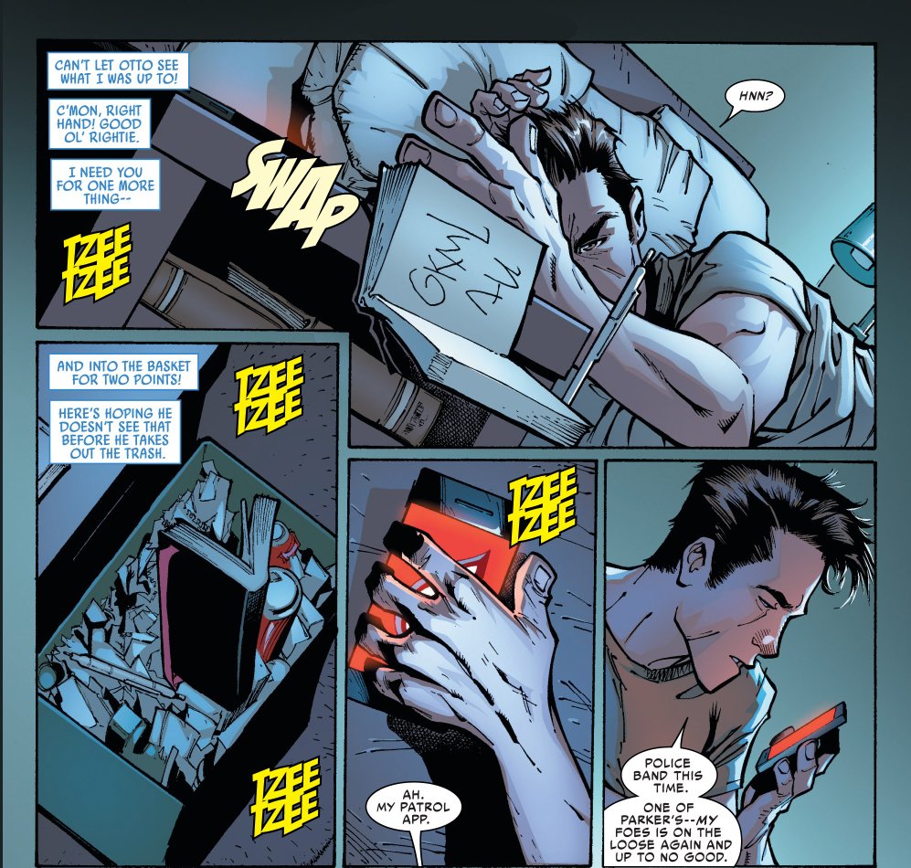 peter parker tries to regain control of his body