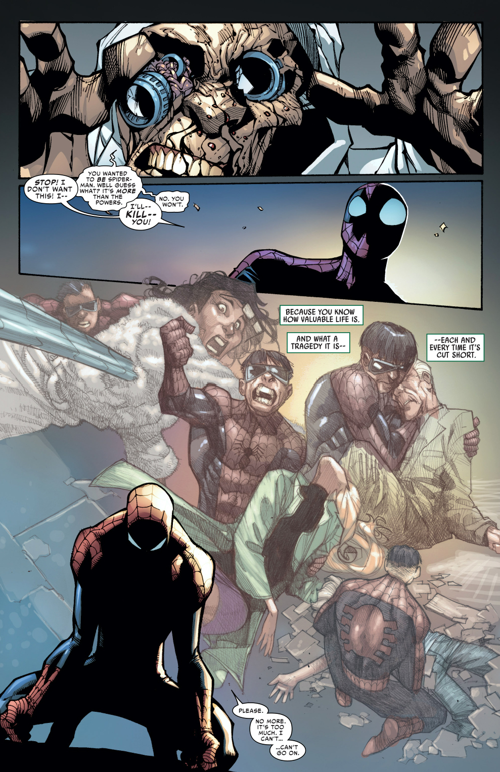 spider-man makes doctor octopus relive his memories