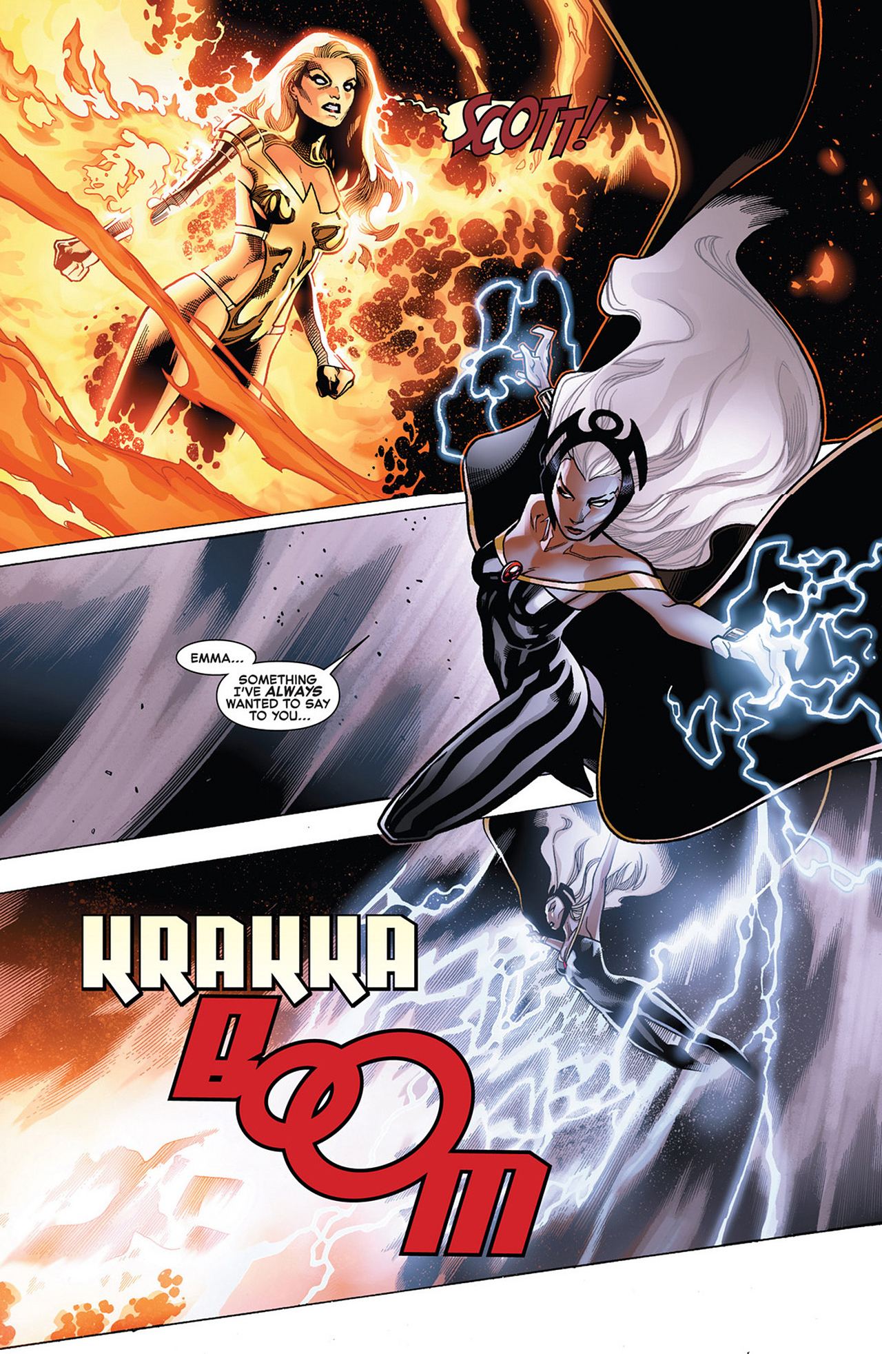 storm vs phoenix five emma frost