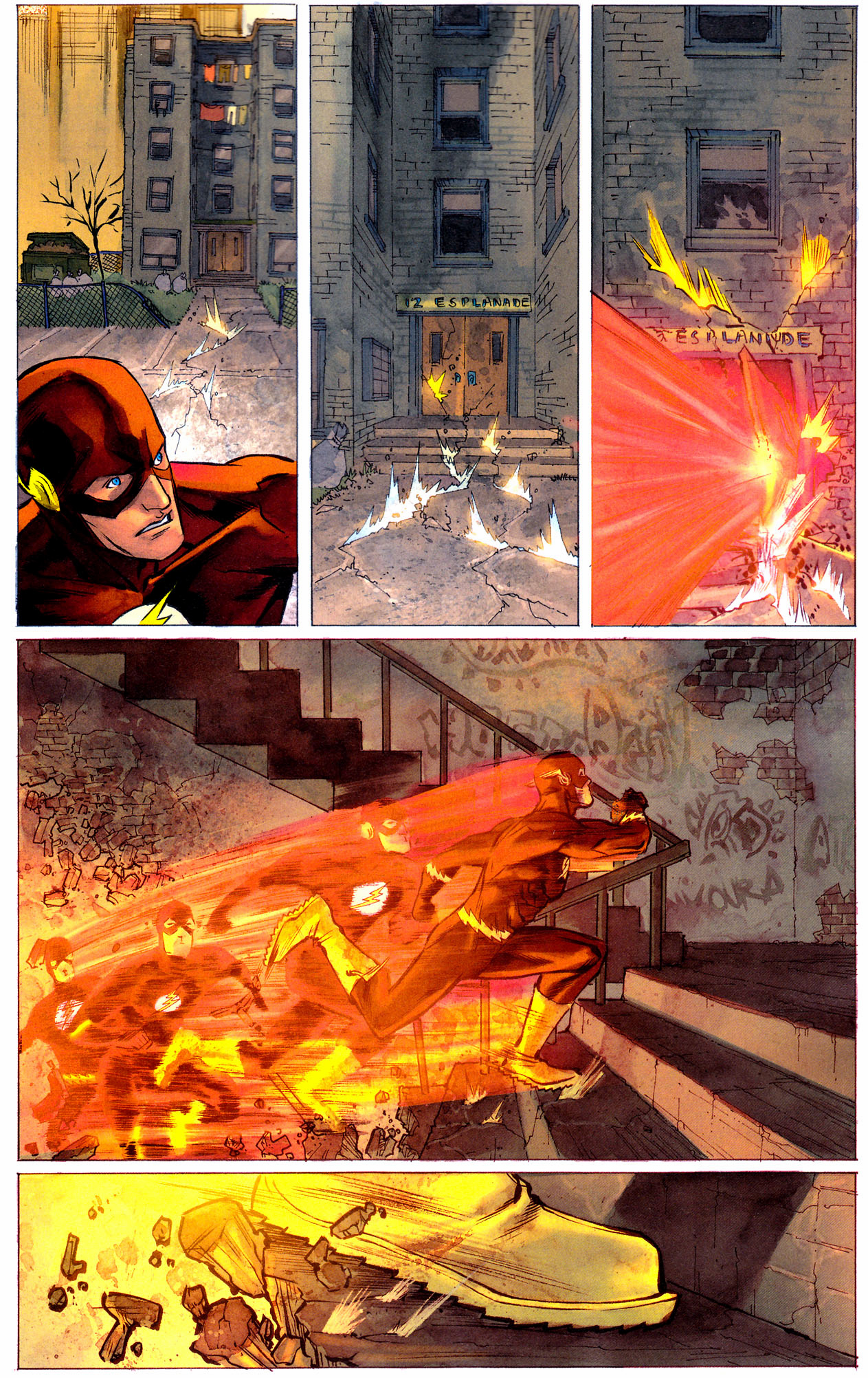 the flash rebuilds a building from scratch