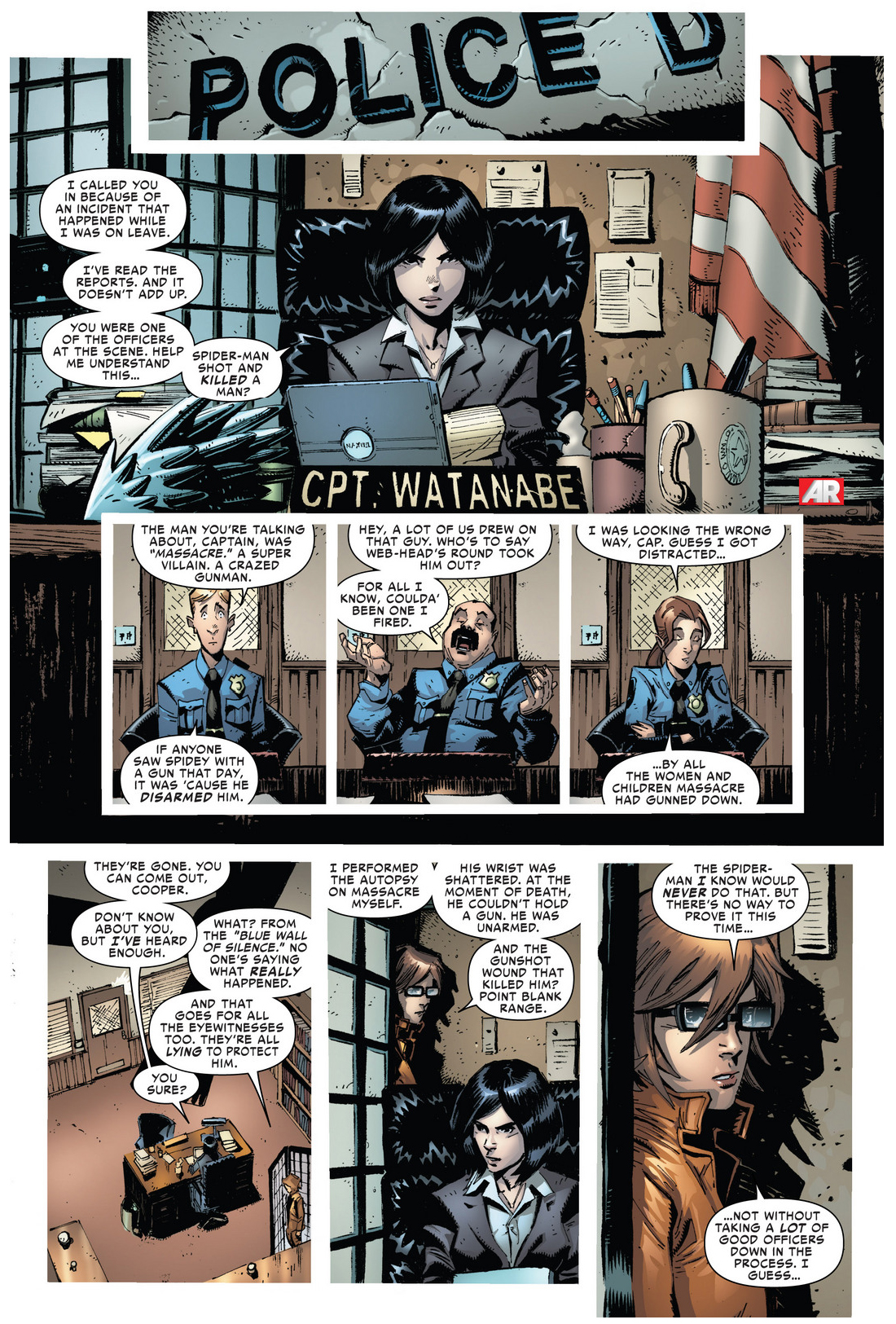 the police lie to protect superior spider-man