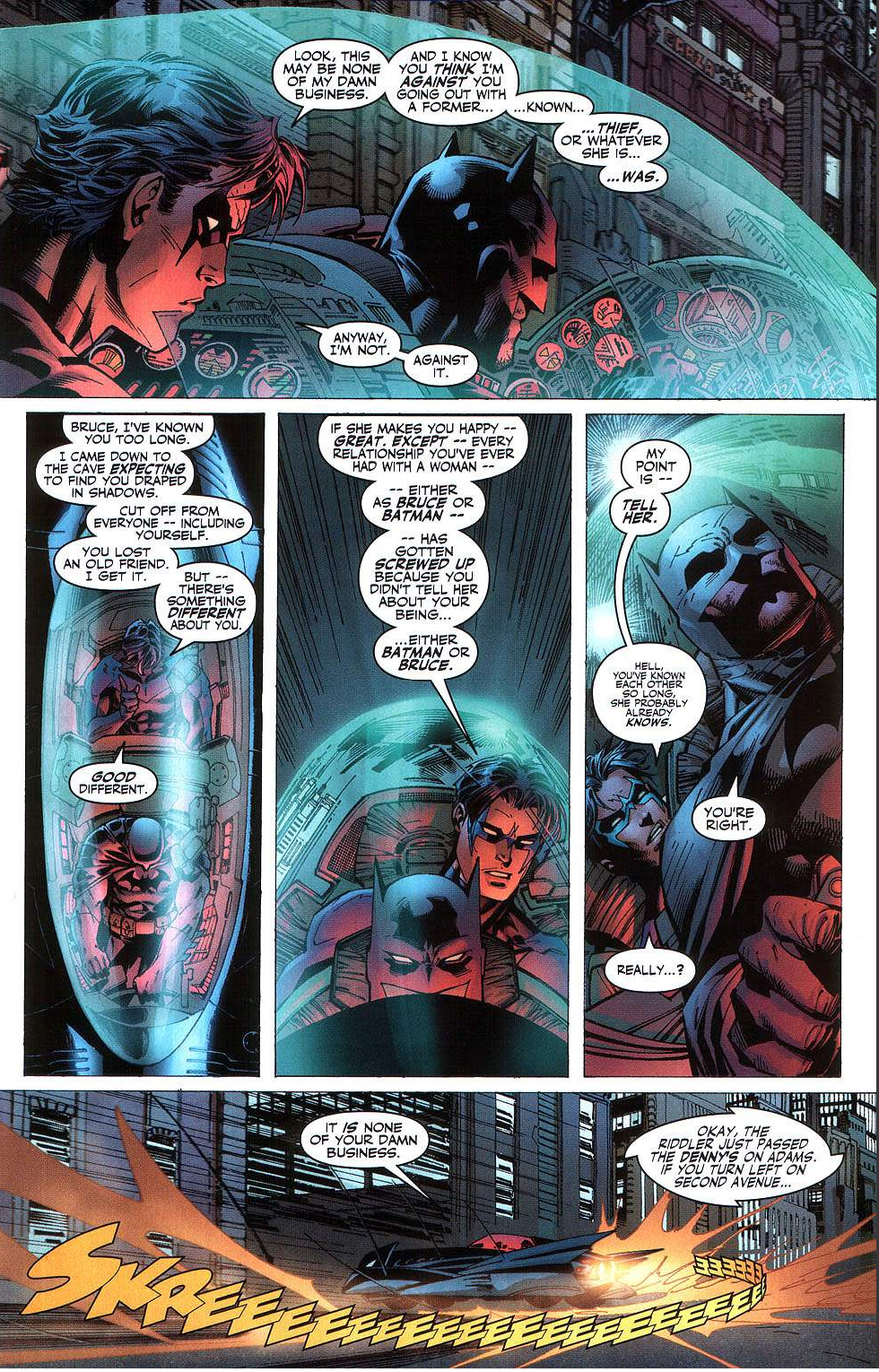 nightwing gives batman advice about catwoman 1