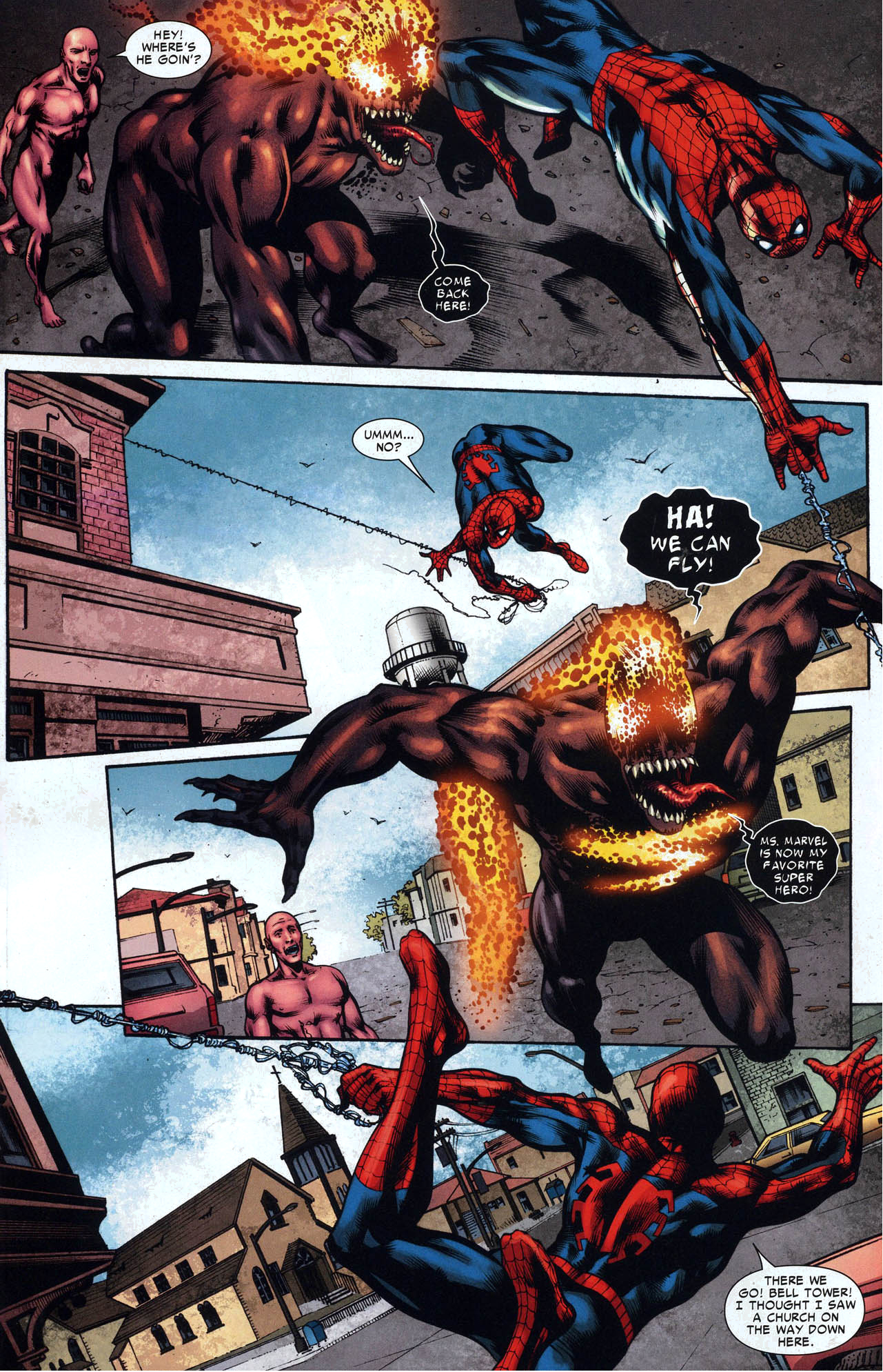 spider-man vs miss marvel with symbiote