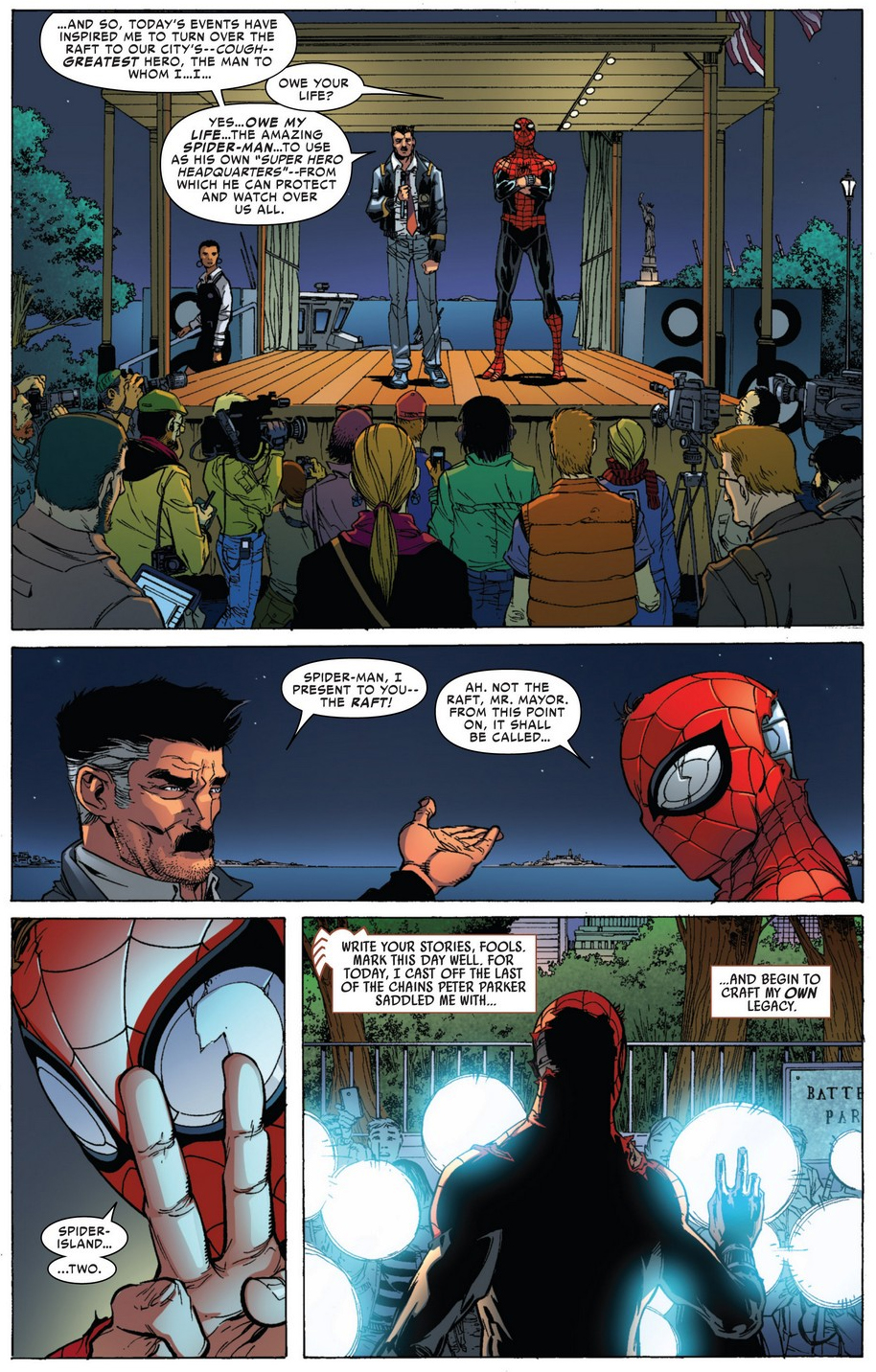 superior spider-man blackmails jonah jameson