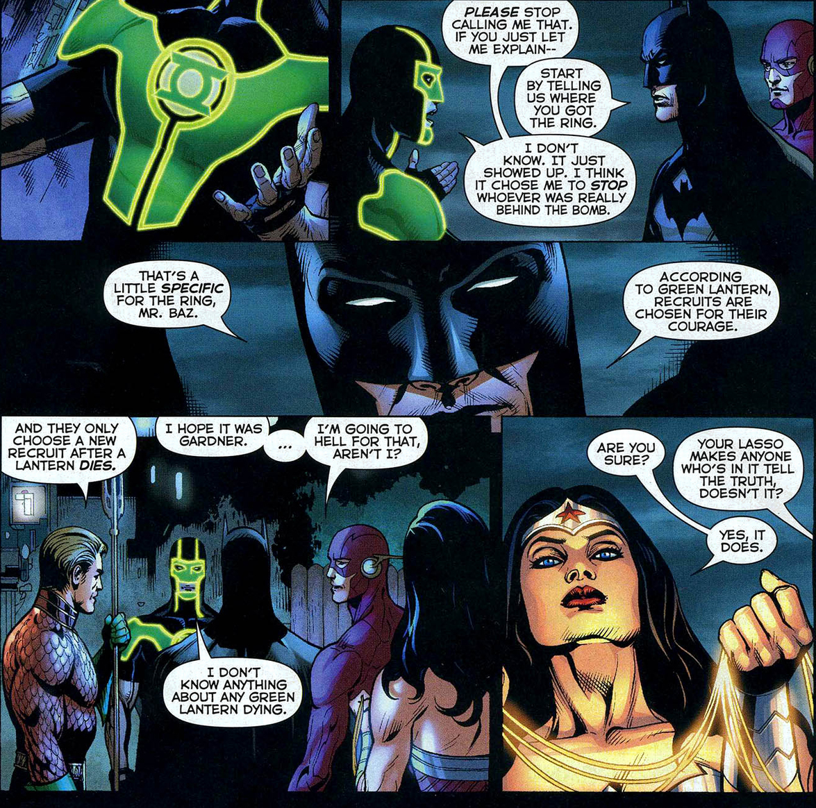 The flash doesn't like guy gardner