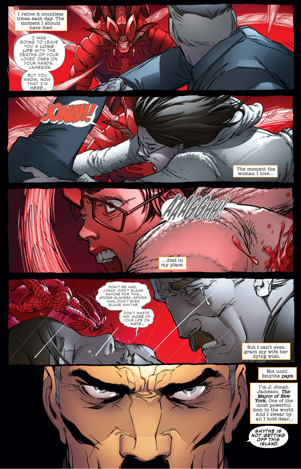 why jonah jameson hates the spider-slayer