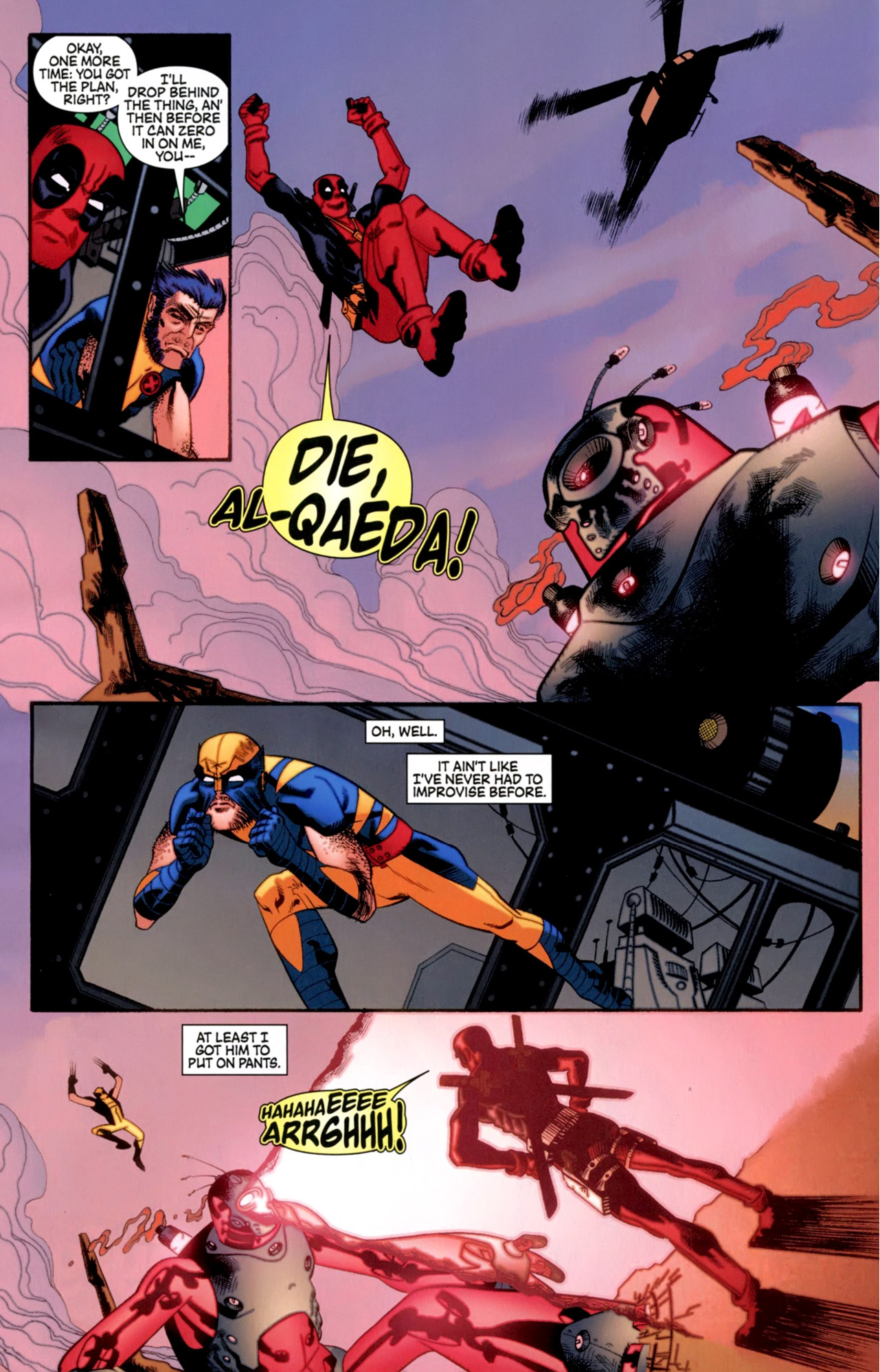 wolverine and deadpool vs shi'ar robot