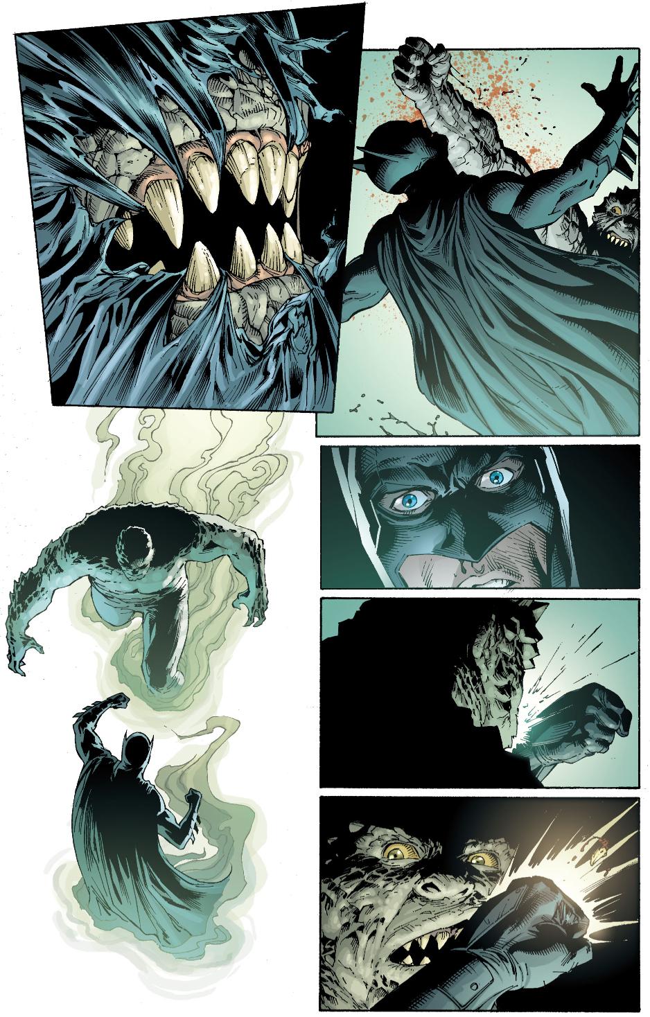 batman vs killer croc (earth one)