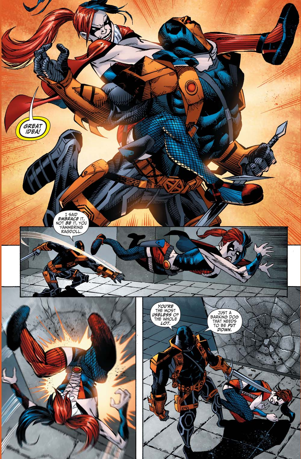black manta and harley quinn vs deathstroke 4