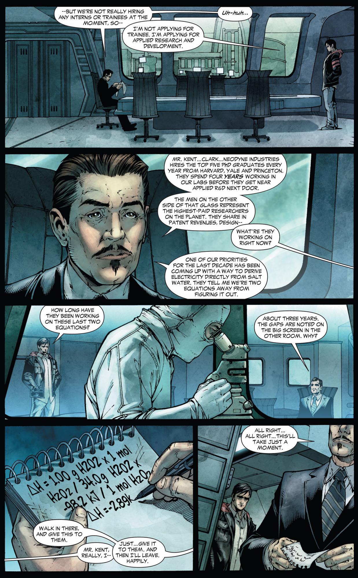 clark kent applies as a scientist